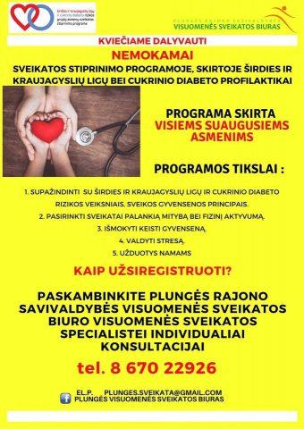 mankštos programa širdies sveikatai